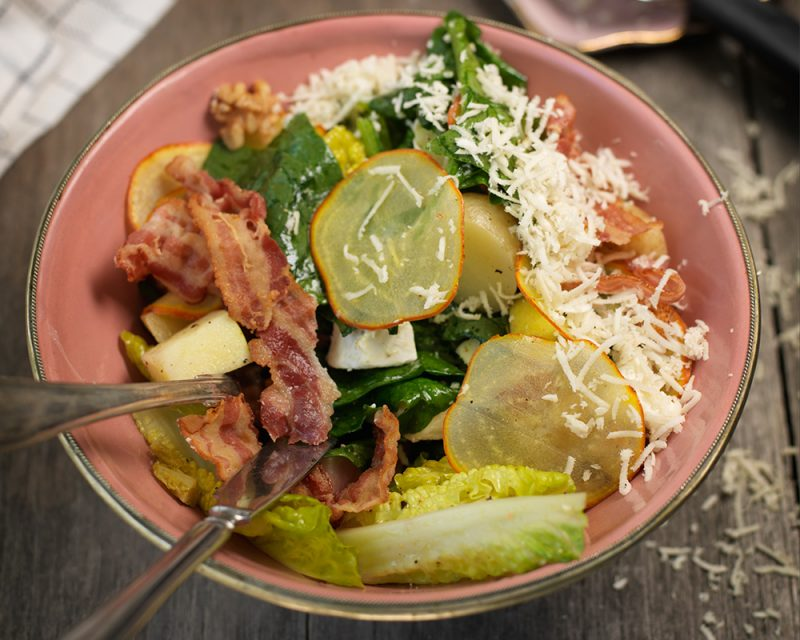 Recept sallad med betor, getost och pepparrot