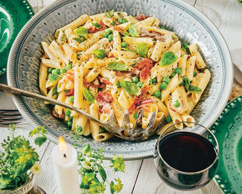 Krämig pasta från Rom