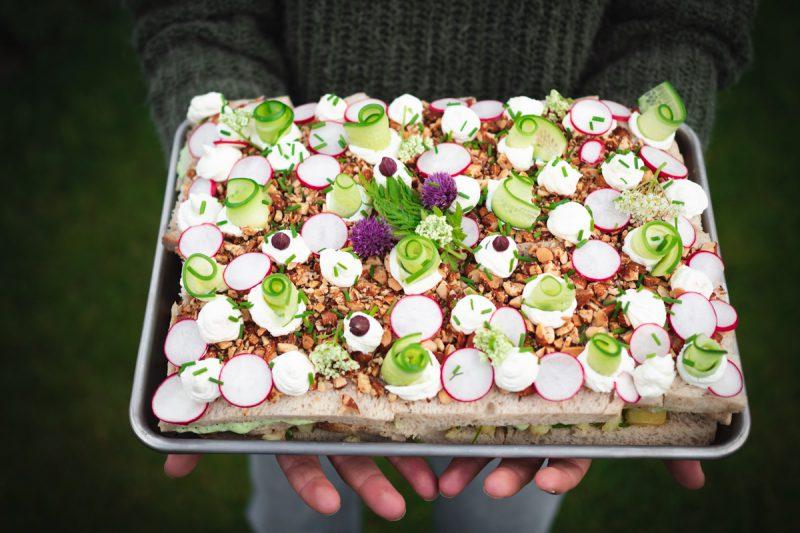 Recept vegetarisk smörgåstårta